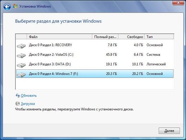 Устанавливаем Windows 7