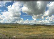 Без облаков никак нельзя. Вот такие у нас казахские степи :-)