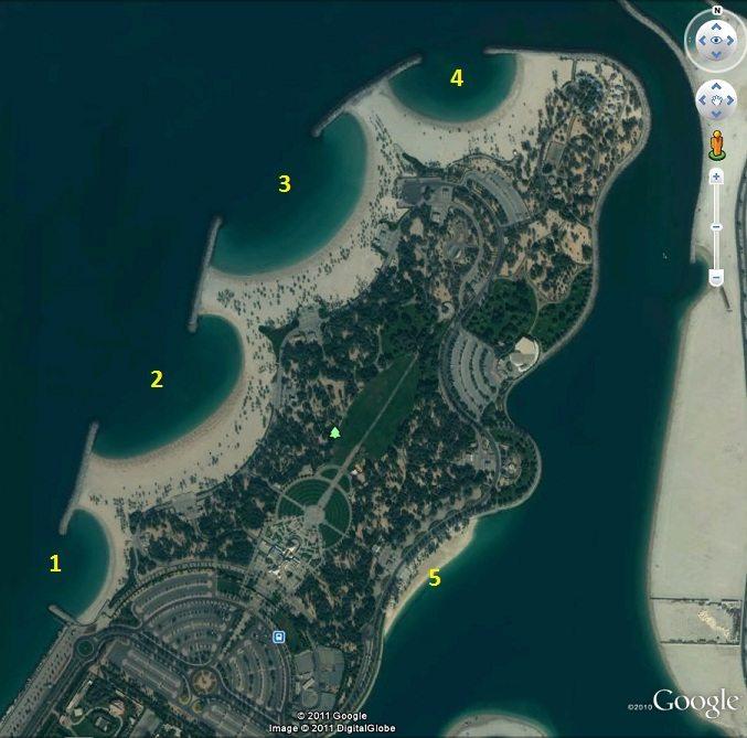 Карта пляжей AL Mаmzar