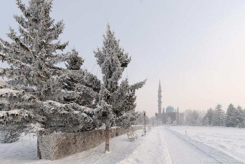 Площадь Республики мерзнет