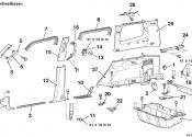 Схема разборки багажника Pajero 4