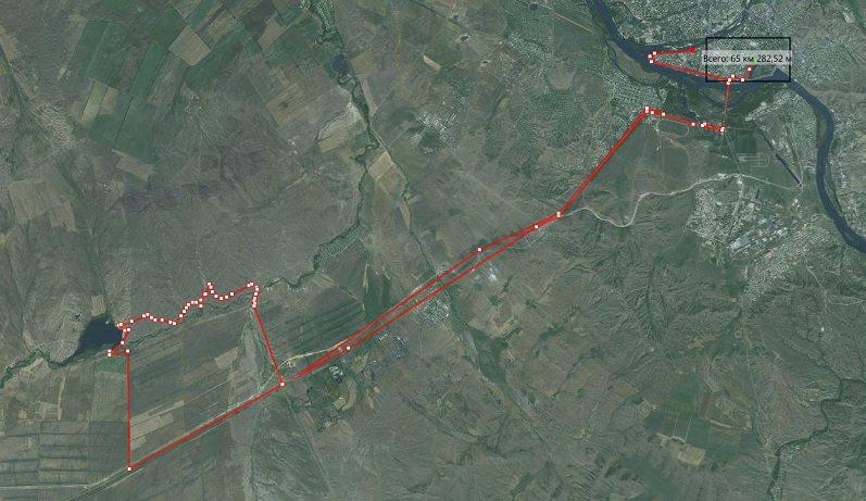 Запруда близ Алебастра. 70 км. на велосипеде