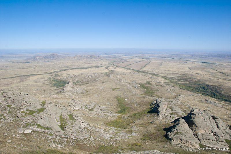 Вид с Монастырей в сторону Усть-Каменогорска