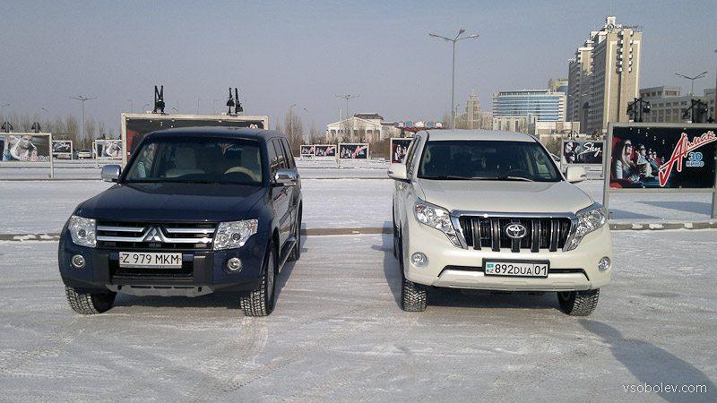 Митсубиси Паджеро 4 и Тойота Прадо 150