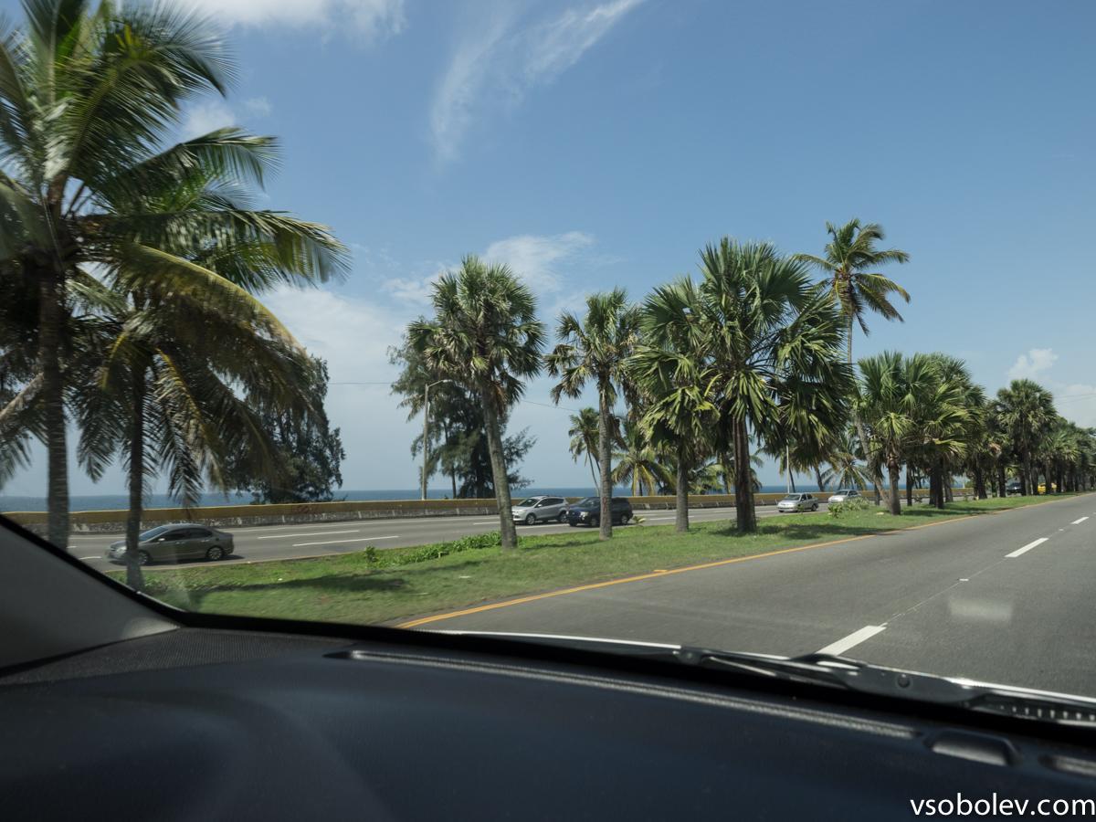 Вид с городской магистрали