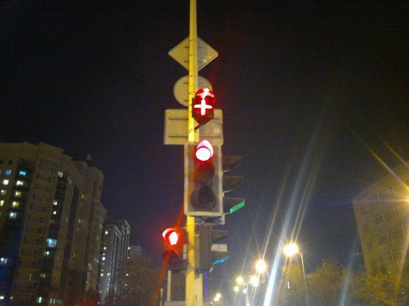 новые светофоры в астане