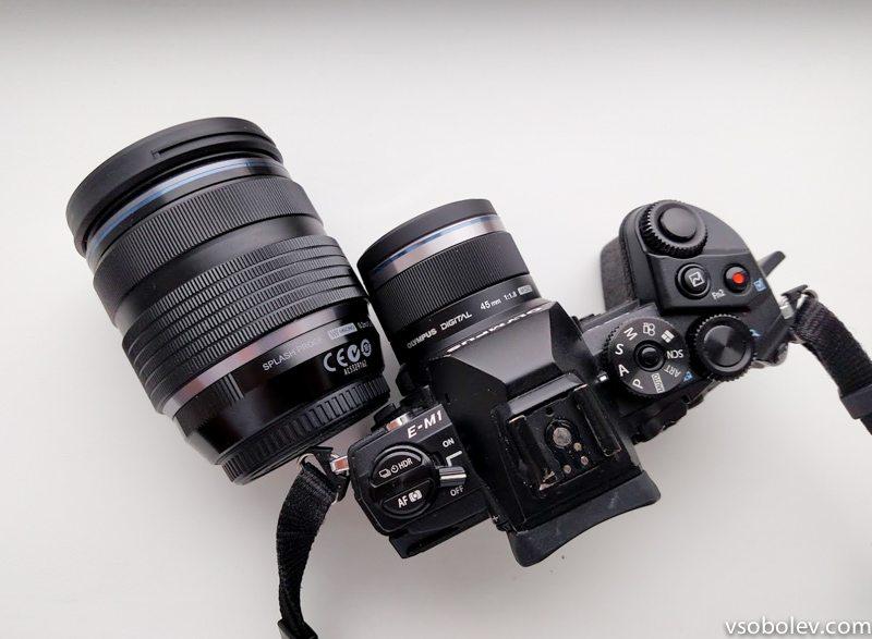 Фикс Olympus M.Zuiko 45 мм.