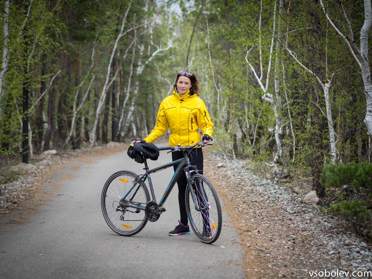 На велосипеде вокруг озера Щучье