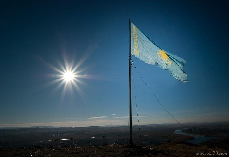 Флаг над Усть-Каменогорском
